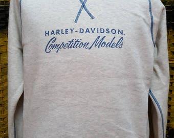 Vintage HARLEY DAVIDSON / big logo spell out / Competition Models / Medium size sweatshirt
