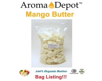 Raw Mango Butter Natural Pure from 4 oz. up yo 10 Lb Bag 100% Pure Natural Same Day Shipping! SKIN, BODY & HAIR
