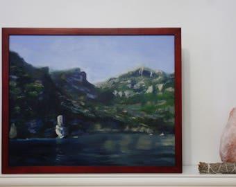 Original Painting, Oil Painting, Amalfi Coast