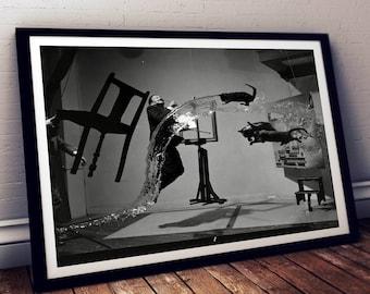 Dali Atomicus / Dali print / Dali poster / Dali photograph / Salvador dali art print / Salvador dali photography / Salvador dali art