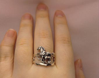 Horse Ring ~ Sterling Silver Horse Ring