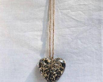 Handmade Birdseed Heart-Shaped Bird Feeder Tree Ornament, Party Favor, Great Gift