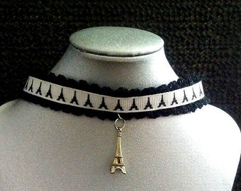 Eiffel tower choker necklace
