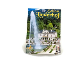 Vintage Linderhof Palace Germany Tourist Souvenier Photo Refrigerator Magnet