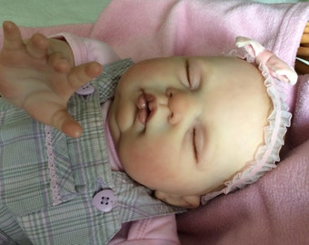 "Beautiful Baby Reborn Doll for Sale - ""Sugar"" (original sculpt by Donna RuBert) - Finished & Ready to Ship from Canada!"