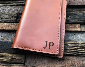 Personalized Leather Passport Cover Holder - Couple Gift - Personalized Passport