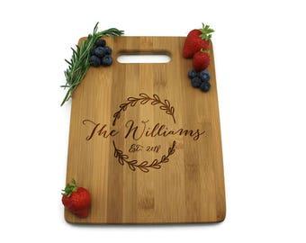 Personalized Cutting Board - Cheese Board - Wedding Gift - Bamboo Cutting Board - ptcb001