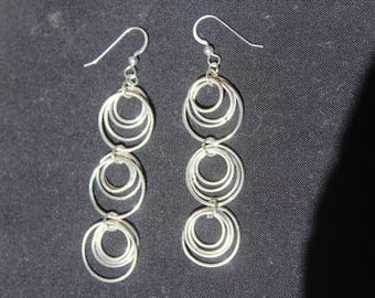 sterling silver circles earrings