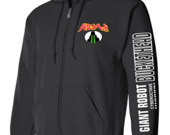 Buckethead Giant Robot Laser Eyes Zip Up hoodie