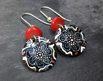 Handmade Bespoke Enamelled Earring