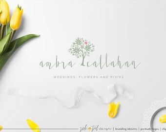 Premade Logo, Watermark, blog logo, photography logo, florist logo, fashion logo, beauty logo, handwriting logo, wedding logo, fall flowers