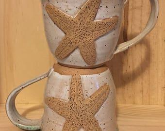 Starfish Mug - White Sand