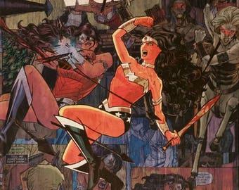 DC New 52 Wonder Woman Comic Collage