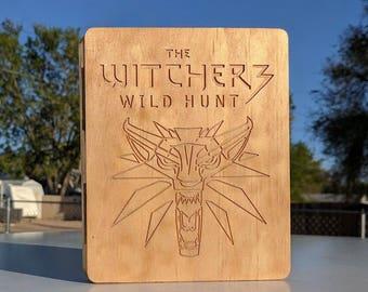 Witcher 3: Wild Hunt - Handmade Woodbook Game case