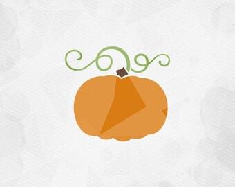 "SVG ""Pumpkin"" Cricut Silhouette - pdf png svg dxf - Harvest Autumn Cut File SVG, Fall SVG, Pumpkin Svg, Pumpkin Stem"