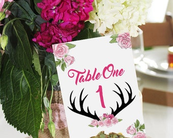 The Hunt is Over Wedding Table Numbers/Names