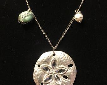 Sandollar charm necklace