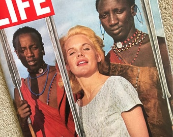 Vintage Life Magazine With Actress Carol Baker On The Cover From July 1964