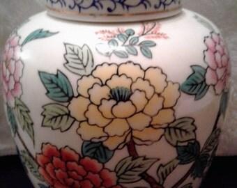 Flower Ginger Jar