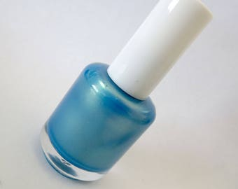 SunnySkies.005 Nail Polish Blue Green Gold Sky