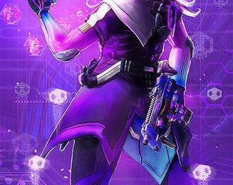 Sombra from Overwatch Poster A3 and A4 size