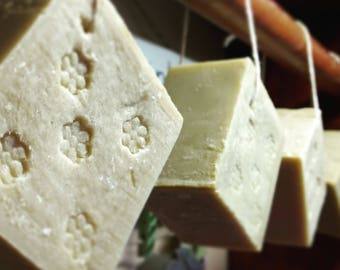 For the Love Of Aleppo Soap - Hanging Aleppo Style Soap - Alep Style Soap - Traditional Syrian Soap - Olive Oil and Laurel Berry Oil Soap