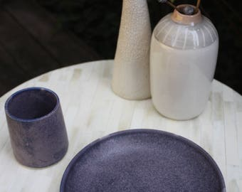 handmade ceramic plate, wheelthrown tableware