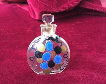 petit flacon à parfum ancien testeur, verre émaillé & signé-piccolo vecchio tester per bottiglie di profumo, vetro smaltato e firmato