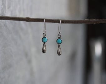 925 Sterling Silver Natural Turquoise Gemstone Earring Small Earring