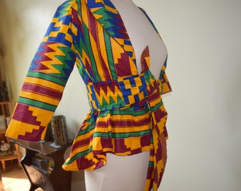 African hand made women's blazer.