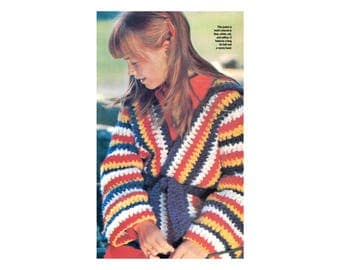 Childrens Wrap Jackets Crochet Pattern