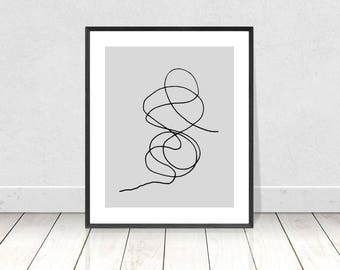 Modern Art Print, Abstract Line Drawing, Minimalist Wall Art, Printable Art,Line Drawing Print,Abstract Art,Modern Poster,Scandinavian Print