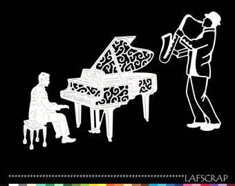 lot cutouts scrapbooking character piano musician jazz cut paper embellishment die cut creation