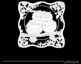 1 cut scrapbookig scrap setting OWL animal flower cut paper embellishment die cut creation