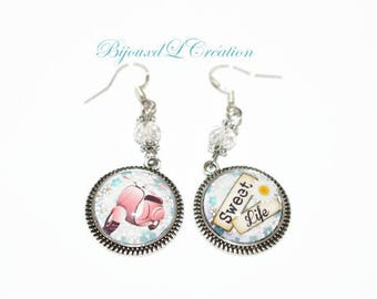 Scooter earrings / sweet life silver