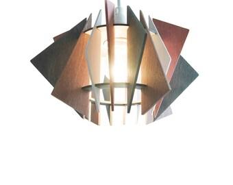 Wood pendant light Etsy