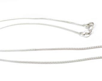 1 x Sterling silver 925 curb chain - 45 cm