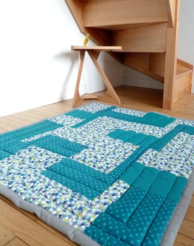 grand tapis de jeu ou d 39 veil pour b b fond de parc. Black Bedroom Furniture Sets. Home Design Ideas