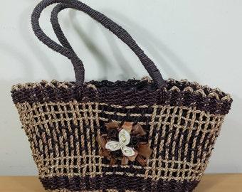 Handmade Bali Water Hyacinth Shopping Handbag (Colored)
