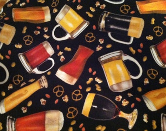 Beer & Pretzels Fabric by the half yard