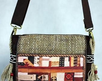 Boho shoulder bag, Cross body bag, Vegan handbag, Hippie purse, Sac a main, Hobo bag, Mom gift, 50th birthday gift