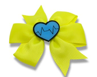 large hair bow - heartbeat