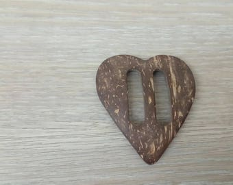 Sewing loop heart acrylic ornament