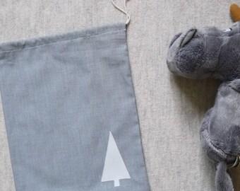 Hang your Christmas tree wrap / fabric gray and white size L for Christmas gift bag
