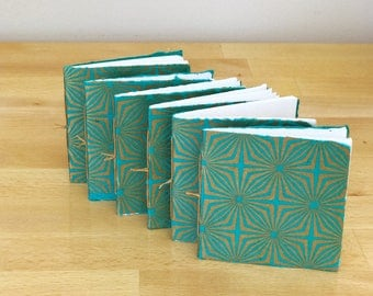 Teal and Gold 70's Design Mini Booklet Set