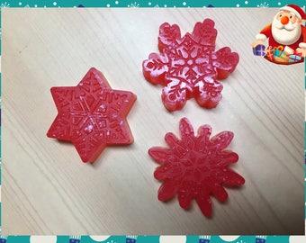 50 Snowflakes Soaps (small)