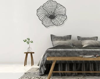 Flower wall art, flower art, wall decor, metal wall art, metal flower wall art, wall decor living room, wall decor bedroom, wall hanging