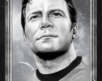 Star Trek Captain Kirk Starfleet Academy Character Profile Poster Hand-Drawn Custom Art • Limited Print Run of 25