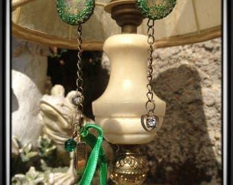 Esmeralda - Earrings, pair of earrings created MissTerre & pickle, made with vintage materials