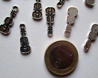 x 1 charm - violin music his Art - metal - jewelry customization